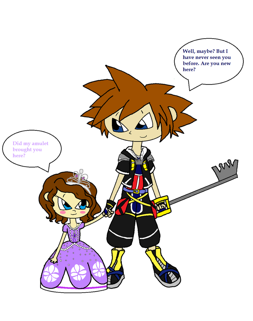 Sora Meets Princess Sofia I by Obeliskgirljohanny on  : sorameetsprincesssofiaibyobeliskgirljohanny d6uwoda from obeliskgirljohanny.deviantart.com size 1024 x 1294 png 365kB