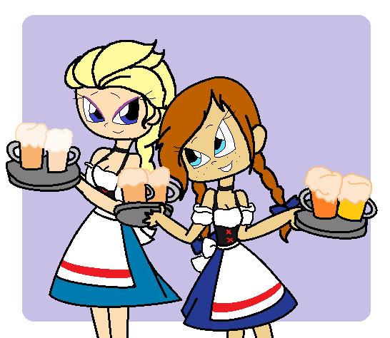 Elsa and Anna in Oktoberfest 2014 by Obeliskgirljohanny