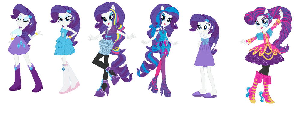 Rarity Fashion Lineup Human Form By Obeliskgirljohanny On Deviantart