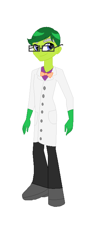 Professor Pig in EQG form by Obeliskgirljohanny