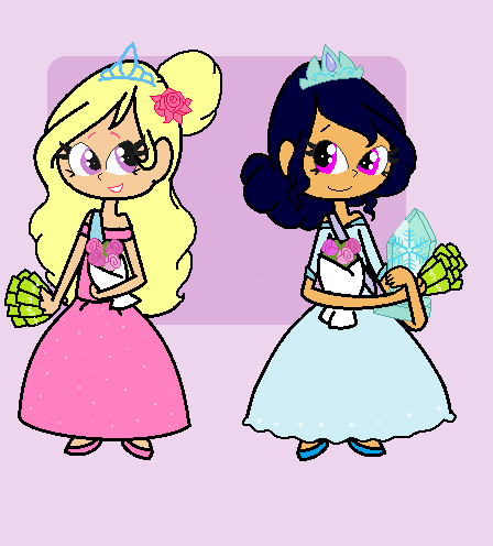 Kitty and Sapphire as Beauty Queens by Obeliskgirljohanny