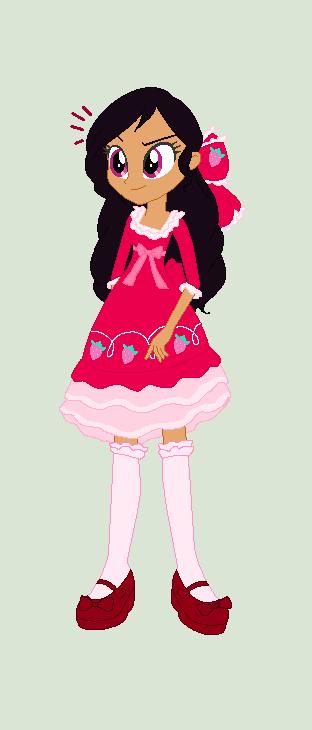 Strawberry's Classic strawberry lolita dress by Obeliskgirljohanny
