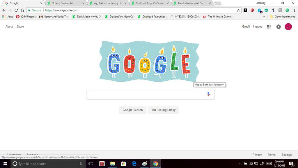 Google Birthday Doodle For My 25th Birthday By Obeliskgirljohanny