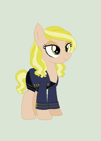 Mane Moss (Ponyfied version of Kate Moss) by Obeliskgirljohanny