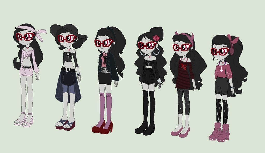 Cyanne's Skary Gothic Outfits 9 by Obeliskgirljohanny