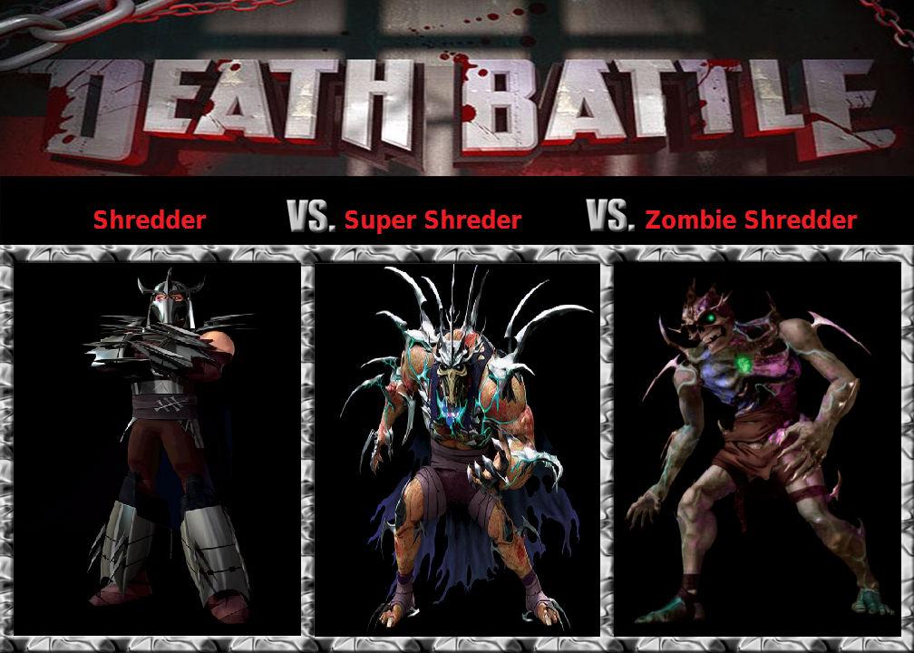 Death Battle Shredders Three Forms By Darkmagicianmon On Deviantart