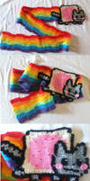 Nyan Cat Scarf by BlackPie