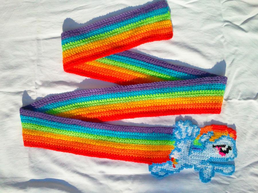 Rainbow Dash Super Sonic Rainboom Scarf By BlackPie