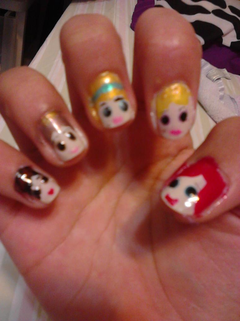 Disney Princess nail art by PandaPandaPrincess ... - Disney Princess Nail Art By PandaPandaPrincess On DeviantArt