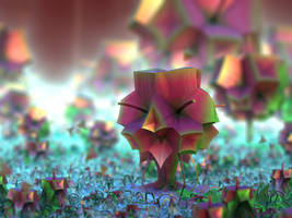 cubic flowers - Mandelbuld3D with Parameter by matze2001