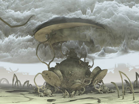 clouds by heightmap - Mandelbulb3D with Parameter