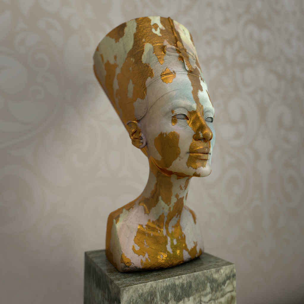 nefertiti #3- subpolygon displacement