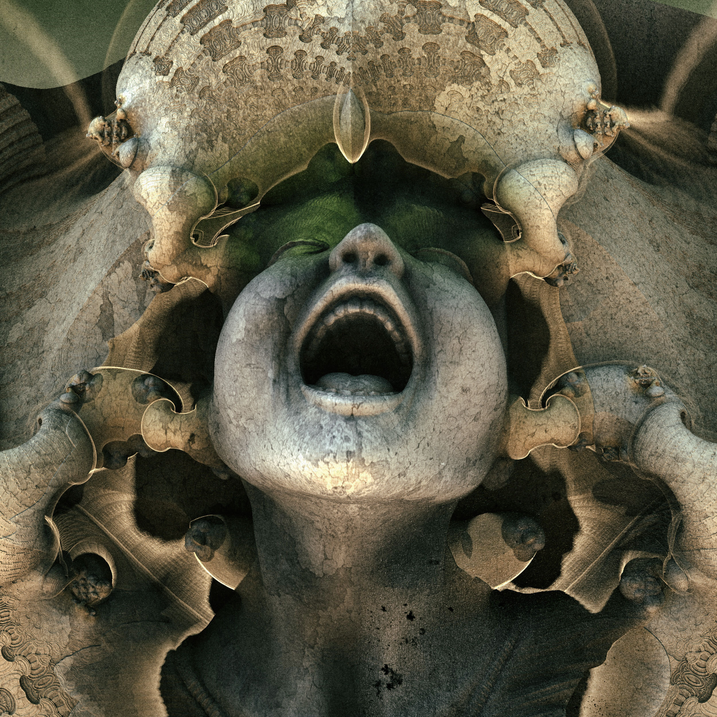 cry - Mandelbulb3D with Parameter and heightmap