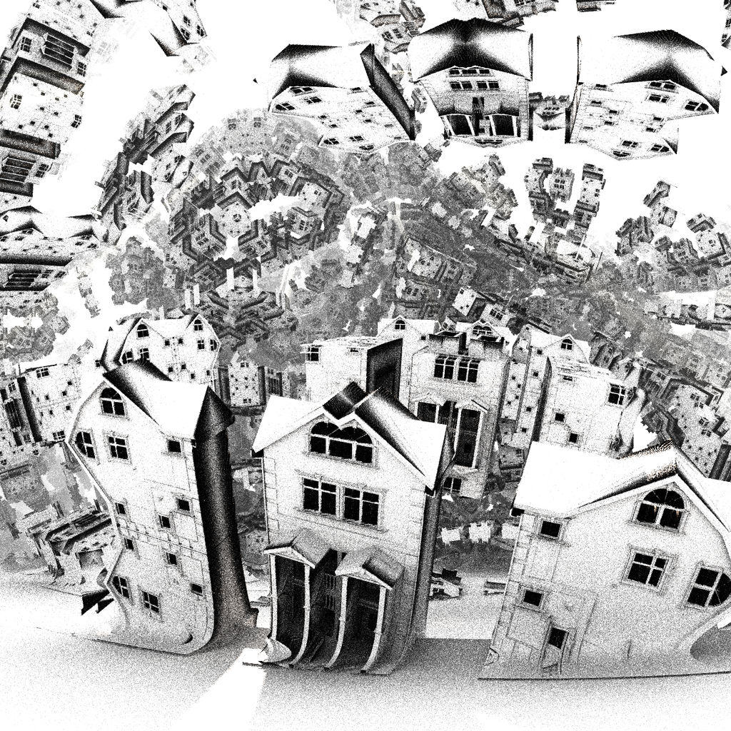 surrealistic houses -Mandelbulb3D with Parameter