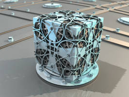 wheel cube - Mandelbuld3D with Parameter and Map by matze2001