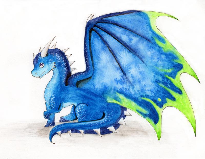 cute blue dragon by miaerrianirielynn on deviantart