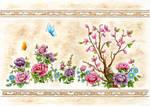 Fresco full of flowers