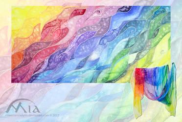 Rainbow scarf by MiaErrianIrielynn