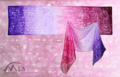 Pink and purple drops