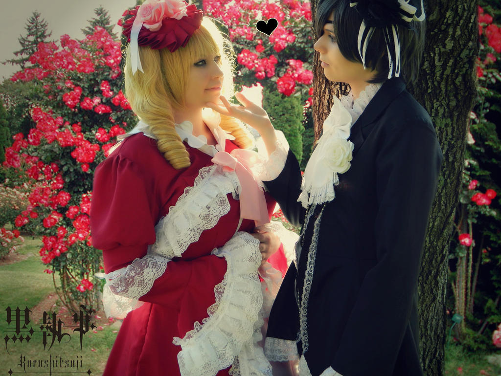 Ciel and Lizzy - Around the flowers by NaruForeverSasu