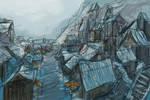Town of Albesila color sketch by MacRebisz
