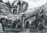 Gate to Albesila sketch by MacRebisz