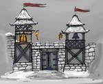 Gate to Albesila sketch2 by MacRebisz