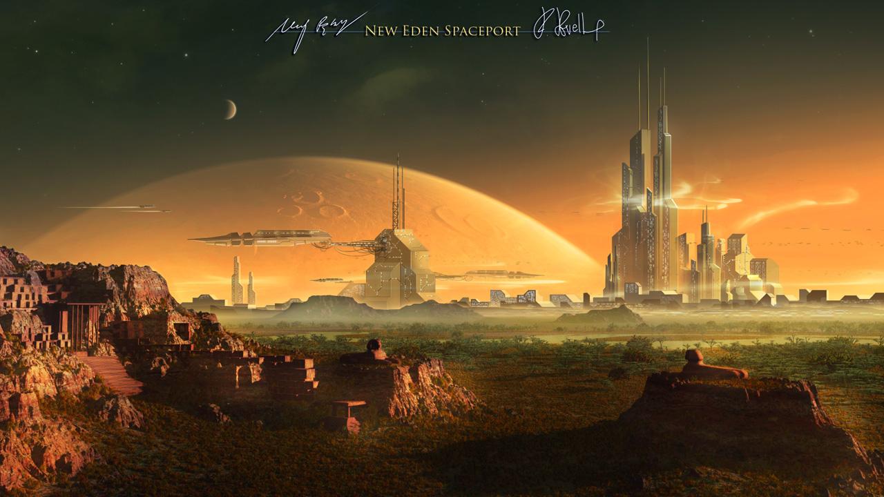 New Eden Spaceport by MacRebisz