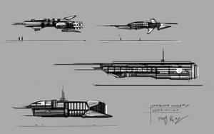 2009-04-01 Spaceship Sketches by MacRebisz