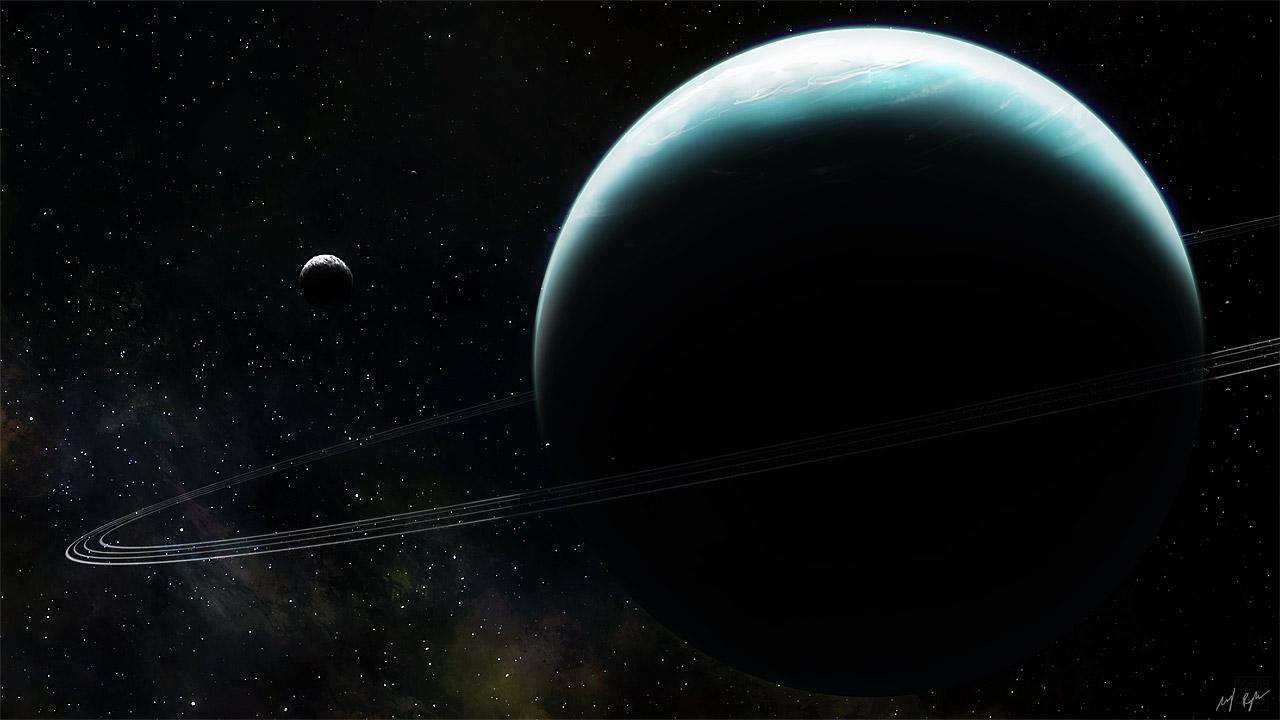 Uranus and Miranda by MacRebisz