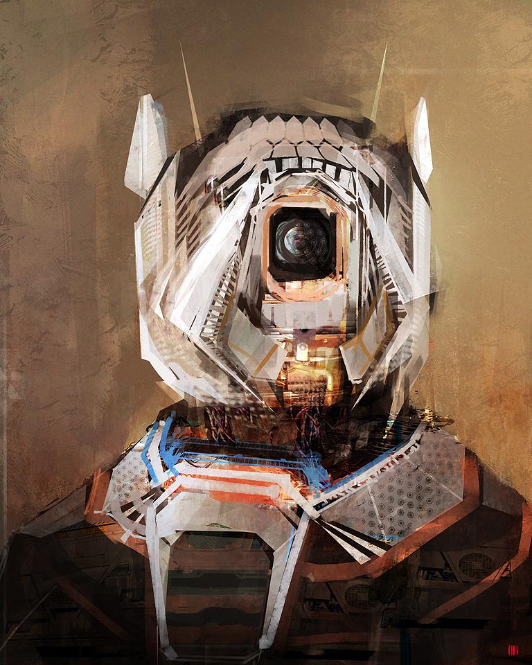 sci-fi portrait by MacRebisz
