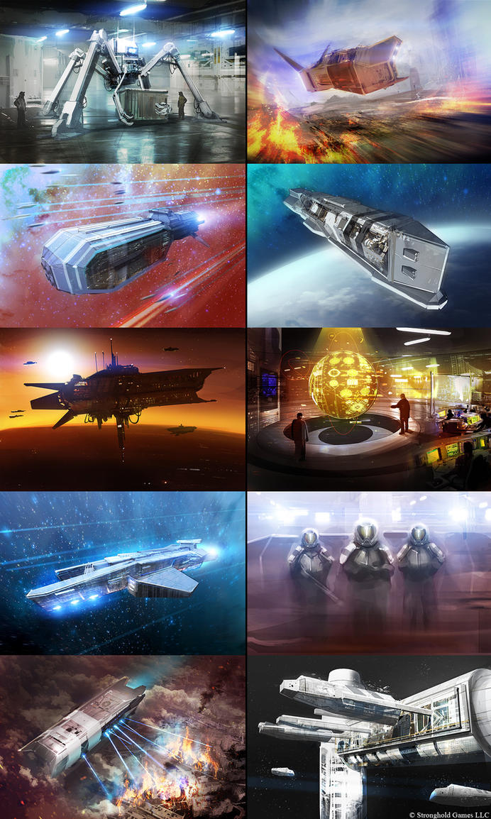 Core Worlds game art by MacRebisz
