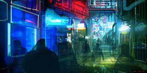 CoffeePainting: Neon street