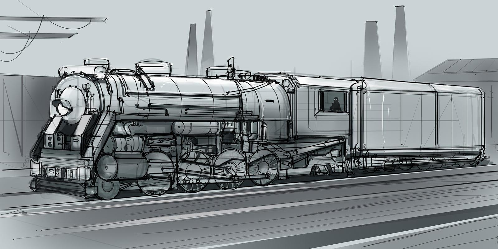 CoffePainting: Steam locomotive sketch by MacRebisz on ...