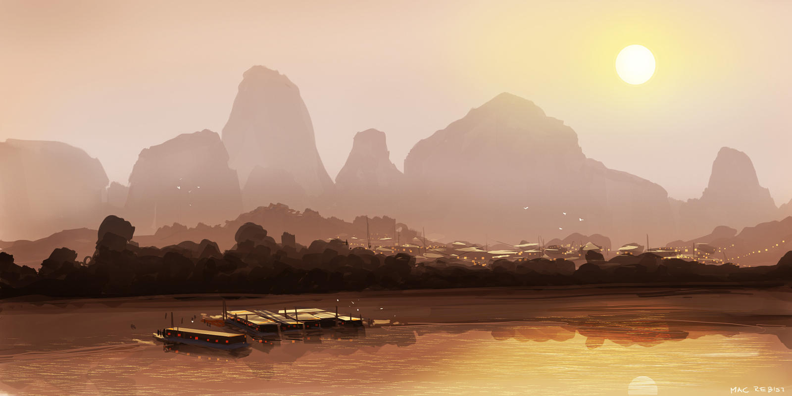 CoffeePainting: Landscape photo study by MacRebisz