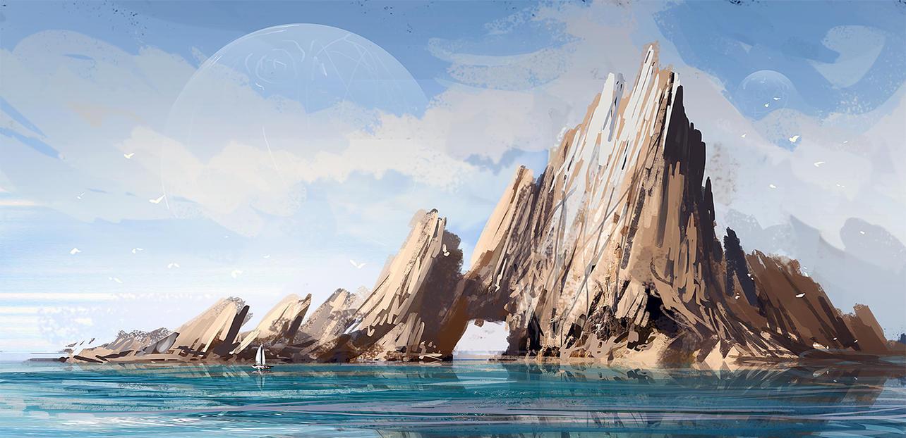 Rocky island by MacRebisz