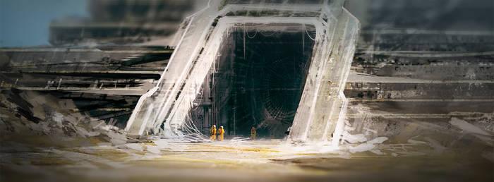 Alien temple entrance by MacRebisz