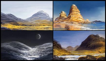 Landscape speedpaints by MacRebisz