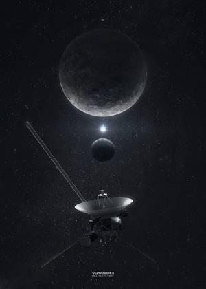 Voyager 3 Pluto flyby by MacRebisz
