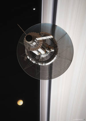 Kronos 1 over Saturn's Rings (2/4) by MacRebisz
