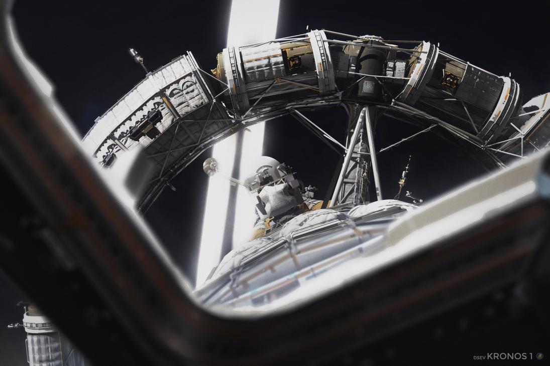 Kronos 1 over Saturn's Rings (3/4) by MacRebisz