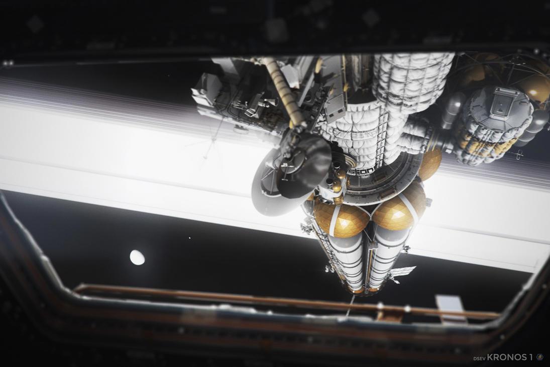 Kronos 1 over Saturn's Rings (4/4) by MacRebisz