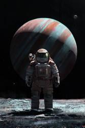 Cosmonaut on Ganymede