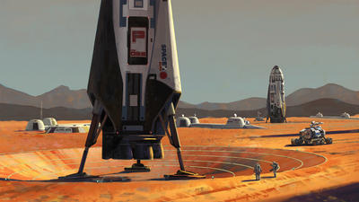 Interplanetary Transport System at Alpha Site