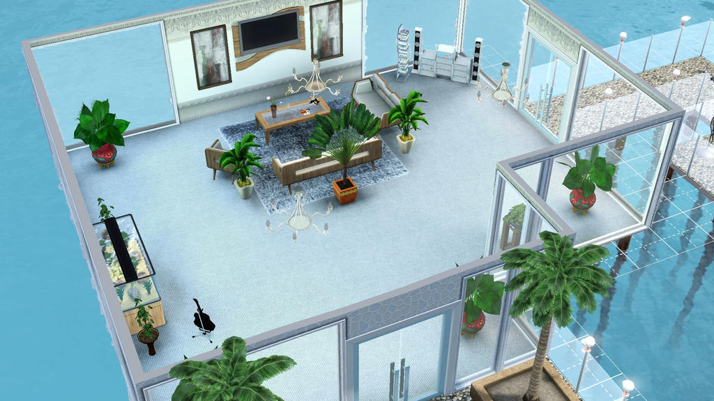The sims 3 island paradise living room by schizoo20 on for Living room ideas sims 3