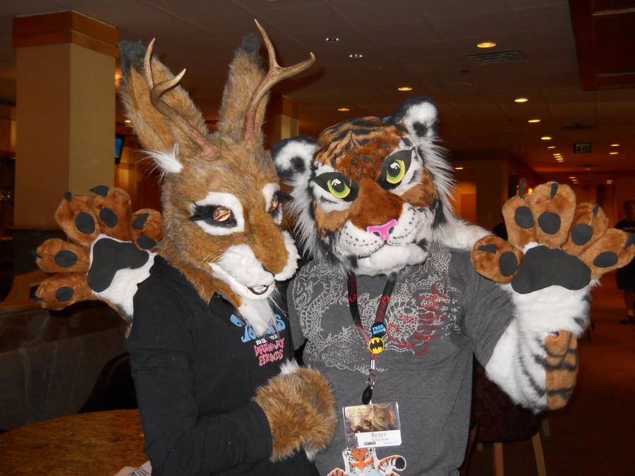 Heather the Jackalope and Tiger Dancer (RMFC) by TwistedTerrace