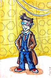 Commission: 10th Doctor by bluecanarykit