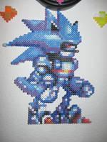 Perler Mecha Sonic Mechanical by rushtalion