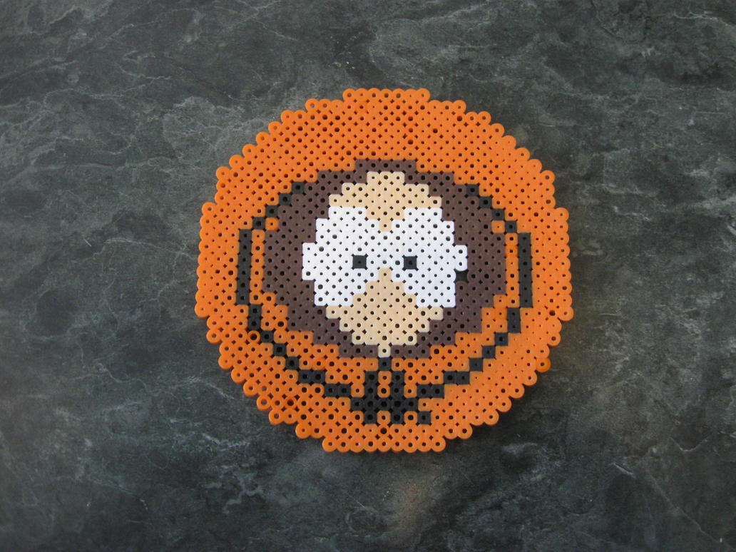 Perler Kenny Face from South Park by rushtalion