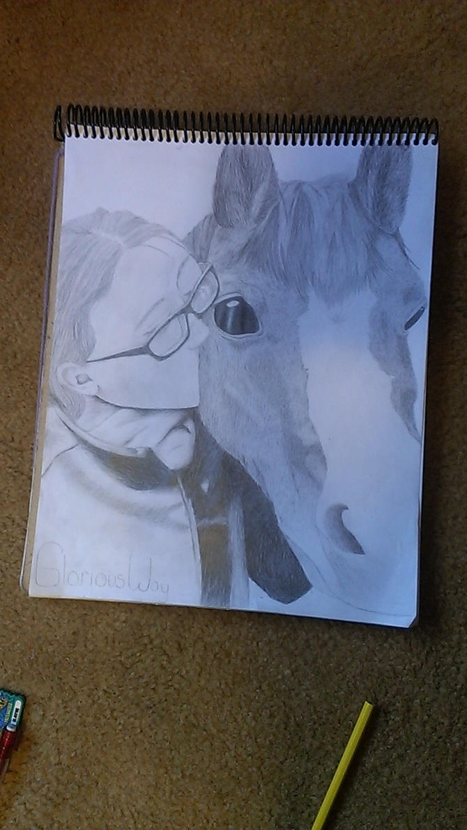 Girl And Her Horse DONE by AnnabellLee666